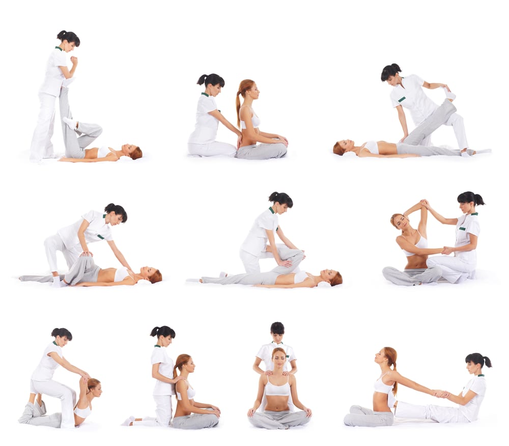 Numerous thai massage positions